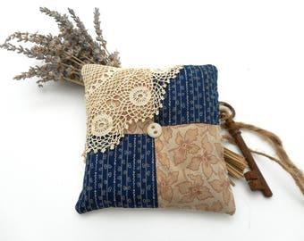Lavender Sachet Antique Textiles Lace Linen Scented Home Decor American Gothic Series
