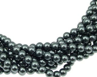 5mm Tahitian Swarovski Pearls - 50 pcs // 5810 5mm Tahitian