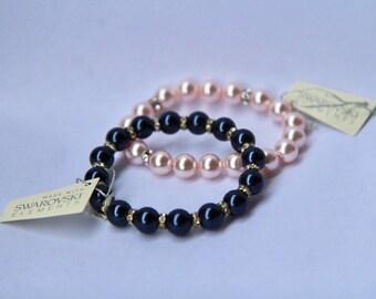 Swarovski pearl necklace 2 pc