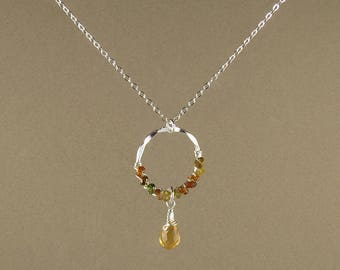 Petro Tourmaline & Citrine Necklace (387)