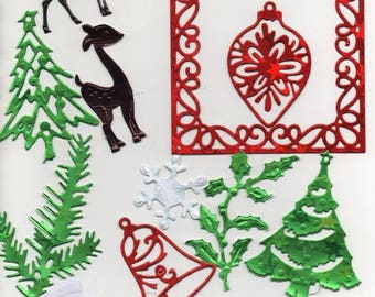 223 - 16 cut-out Christmas cards or cake