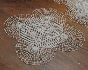 Vintage Crochet Doilies Set of 5