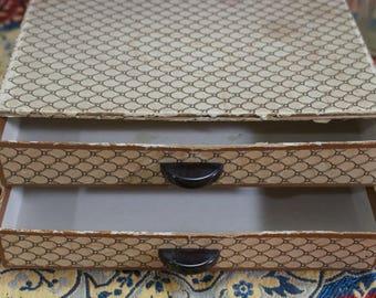 Vintage Stationary Box, desk storage