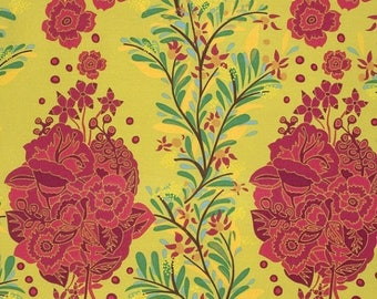 SALE 10% Off - Small Gathering in Citrus PWAH088 - FOLK Song by Anna Maria Horner - Free Spirit Fabric  - By the Yard