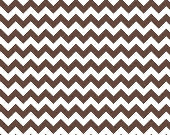 SALE 30% OFF - Small CHEVRON in Brown - Riley Blake Designs Cotton Quilting Fabric - By the Yard