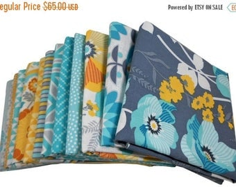 SALE 10% Off - HALF YARD Bundle - Atrium (Mint Palette) - Joel Dewberry for Free Spirit Fabrics - 13 pcs