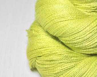 Splitted lime - BabyAlpaca/Silk Lace Yarn