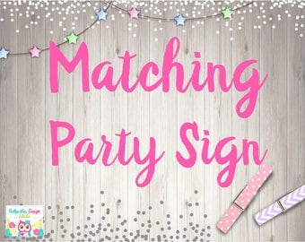ADD Party Sign - Poster Size