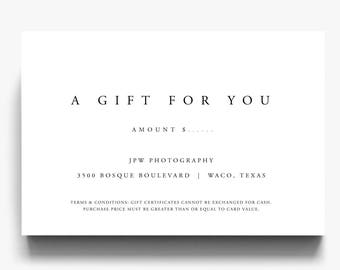 Gift Certificate Template, A Gift For You, Gift Voucher Template, Gift  Certificate Printable  Gift Voucher Certificate Template