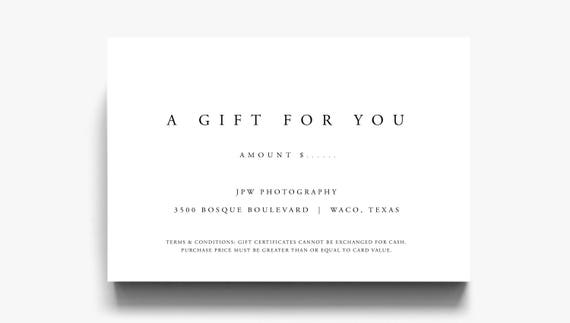 Gift certificate template a gift for you gift voucher gift certificate template a gift for you gift voucher template gift certificate printable gift certificate download for customers yadclub Choice Image