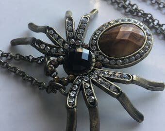 Spider Arachnid Long Necklace