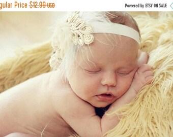 10% SALE Baby headband, newborn headband, adult headband, child headband and photography prop The single sprinkled- SMALL LEAF rosie headban