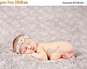 12% off Vintage headband, Baby headband, newborn headband, Baptism, adult headband, and photo prop ELEGANT PEARLS headband