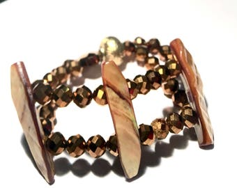 Mother Of Pearl Cuff Bracelet