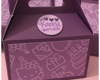 Handmade Gable Boxes Gift Card Holders Girls Birthday Party Favor Treat Holder Original Design set of 3