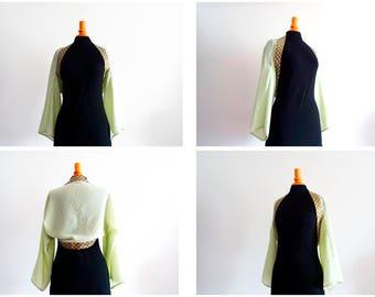 Green kimono shrug M size