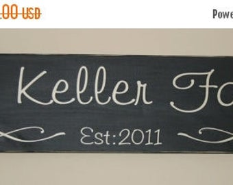 Hand painted Personalized Family Established Wood Sign- Vinyl Lettering wall words graphics Home decor itswritteninvinyl