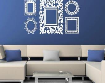 20% OFF Baroque Frames decals Vinyl Lettering wall words quotes graphics decals Art Home decor itswritteninvinyl