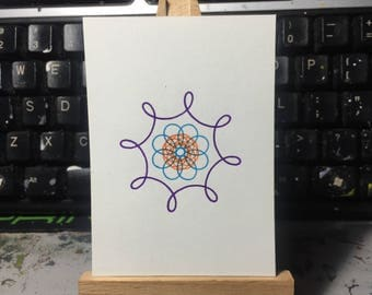 PIF Pay It Forward Spirograph Drawing ACEO card