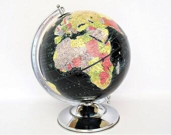 "Vintage 1948 Replogle 12""  Starlight Black Oceans Globe"