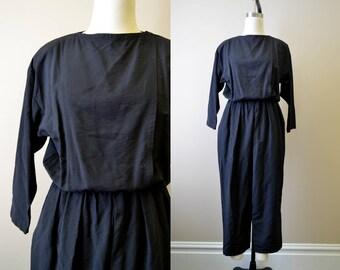 1980s Black Jumpsuit