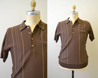 1970s Doral Brown Pullover Shirt