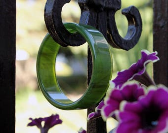 Translucent Green Lucite Bangle