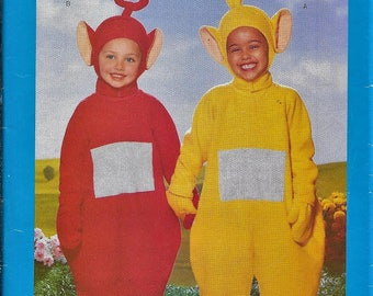 Butterick 5794 Teletubbies Laa-Laa & Po Costume Sewing Pattern Childs Size 2-6X