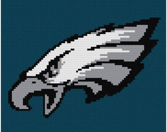 Philadelpia Eagles Logo Banner Cross Stitch Pattern