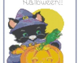A Hopping Halloween Cross Stitch Pattern