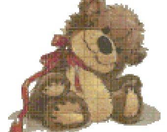 A Teddy Bear Cross Stitch Pattern