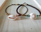 Anklets, 2 Styles, Teal a...