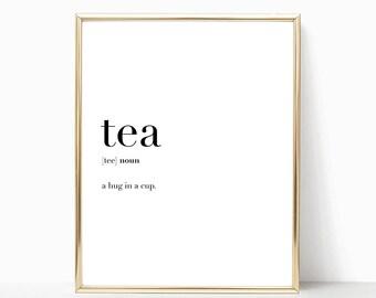 SALE -50% Tea Quote Definition Print, Funny Kitchen Decor, Digital Print Instant Art INSTANT DOWNLOAD Printable Wall Decor