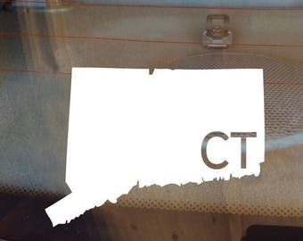 Connecticut Car Decal, State Decal, Connecticut Decal, Laptop Decal, Laptop Sticker, Car Sticker, Car Decal, Vinyl Decal, CT, Window Sticke
