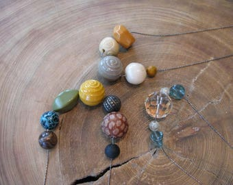 SALE Chunky Funky Fun Necklaces Created with Vintage Beads &  Offer Bridesmaid Necklaces Made to Order W/ Vintage Beads All Same, Different