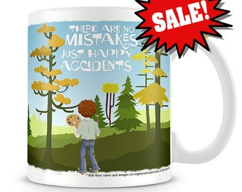 SALE with very minor imperfection Bob Ross - Happy Accidents Mug