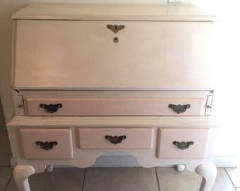 Vintage Secretary Desk Queen Anne Style. Link Taylor Pilgrim Pine Secretary Desk.
