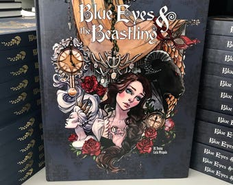 Blue Eyes and the Beastling: Beauty and the Beast Fairytale Watercolor Graphic Novel Comic Book Art Hidden Door Comics Carla Wyzgala RC Youn