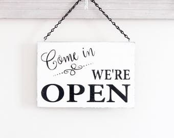 Open Business Sign, Open Closed Sign, Open Sign, Hanging Store Sign,  Office Sign, Business Signage, Wood Sign
