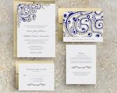 Gold Indian Wedding Invitations, Sangeet Invitations, Indian Event, Indian Reception, Hindu Wedding, Punjabi Wedding, Indian Design