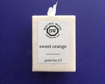 Petite Sweet Orange Soap | Cold Process Soap | Plant Based Soap