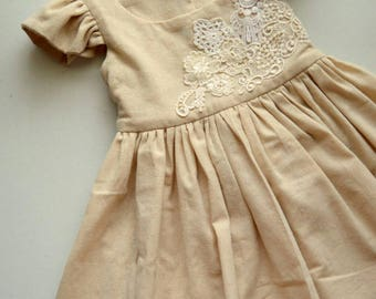 Lace Applique Muslin Dress by Papoose Clothing
