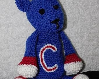 WeeKinder Crocheted Stuffed Animal - Sports Bear