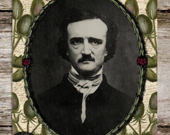 Edgar Allan Posies - Antique Style Edgar Allan Poe Print from Curious London
