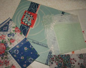 Vintage handkerchiefs in box