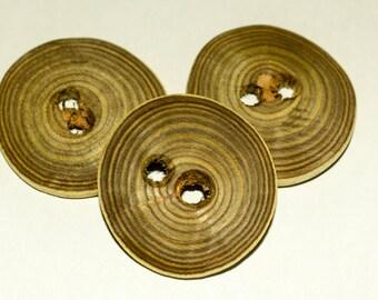 Handmade wavy vinegar (sumac) buttons 40mm