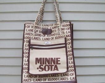 Birthday Sale Skyway Novelty Minnesota Travel Bag / Weekender / Travel Tote