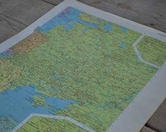 Western Soviet Union Map Print Original