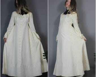 Vintage 60s 70s Emma Domb Wedding Dress