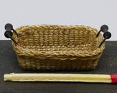 Miniature tray with wooden handle - 1:12th scale